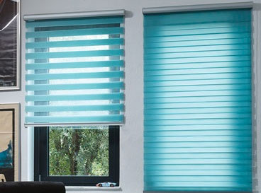 Sheer & Layered Sheer and voile blinds, and the new stylish layered roller blinds, half voile and half opaque