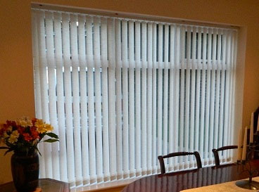 Vertical Blinds A great option for larger windows where you want to control the amount of light coming into the room